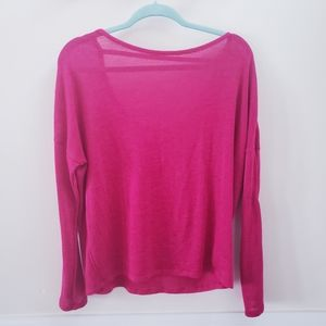 Old Navy Open Back Magenta Sweater
